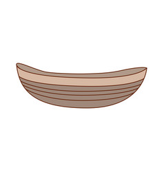 wooden boat isolated vector image