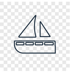yatch concept linear icon isolated on transparent vector image