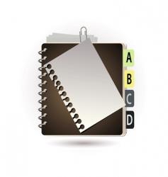 addressbook vector image vector image