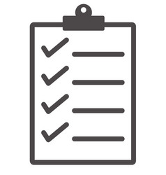 Checklist icon from business vector
