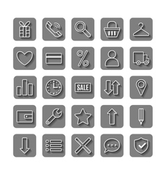 Icons e-Commerce Flat objects shopping symbols vector image vector image