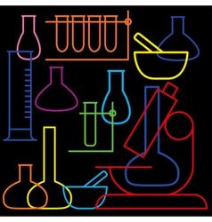 Laboratory and education icon - beaker vector image