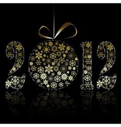new year 2012 symbol vector image