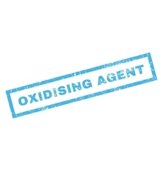 Oxidising Agent Rubber Stamp vector image vector image