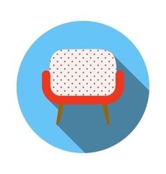 Retro armchair icon flat style vector image vector image
