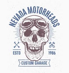 skull print design vector image vector image