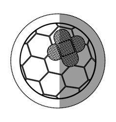 Isolated toy soccer ball damaged design vector image