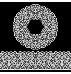 Lace Border Set vector image vector image