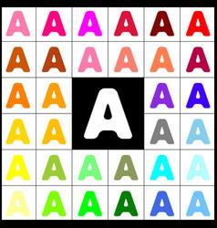 Letter a sign design template element vector
