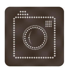 Photo or camera icon as stars vector image vector image