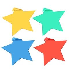 Set of star stickers in four colors vector image vector image