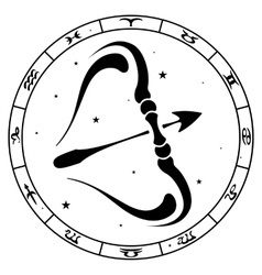 zodiac sign Sagittarius vector image vector image