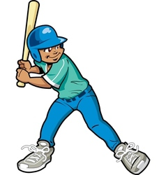 Boy Baseball Batter vector image