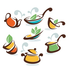 Common homemade food vector