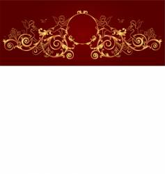 gold framework vector image vector image
