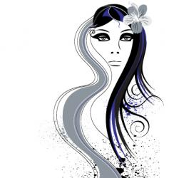 hair abstract vector image vector image