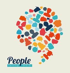 people speech vector image vector image
