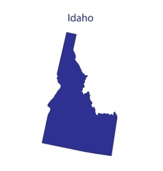 United States Idaho vector image vector image