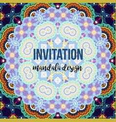 Universal invitation mandala card vector