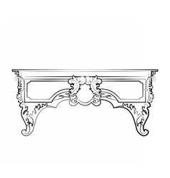 Classic royal ornament table furniture vector image vector image