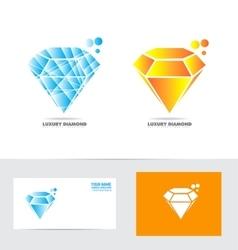 Diamong logo vector image vector image