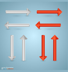 direction of the arrows vector image