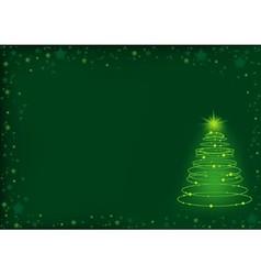 Green Christmas Spiral vector image vector image