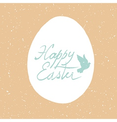 grunge happy easter card design vector image vector image