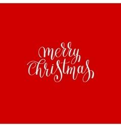 merry christmas red handwritten lettering vector image vector image