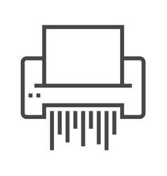 paper shredder line icon vector image vector image
