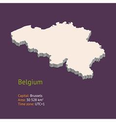 3d map belgium vector