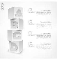 Abc blocks infographic vector
