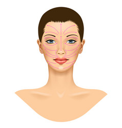 Anti aging treatment and plastic surgery concept vector