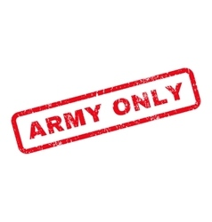 Army Only Text Rubber Stamp vector image