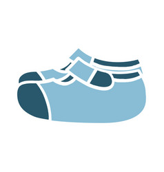 Baby shoes color icon design sign vector
