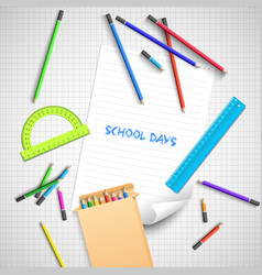 Back to school light background vector