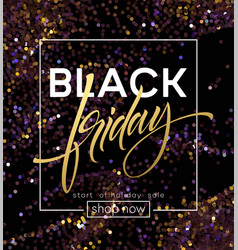 black friday poster template with glitter vector image