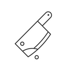 bloody cleaver murder tool halloween related icon vector image