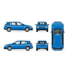 Blue car on white background template for car vector