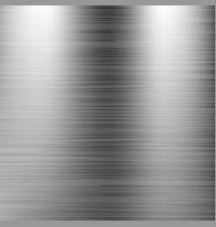 brushed stainless steel background metal texture vector image