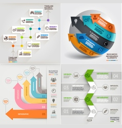 Business marketing infographic template vector