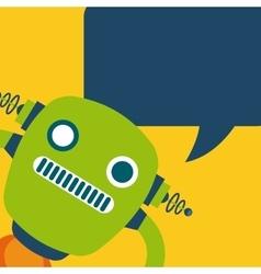 card robot design vector image