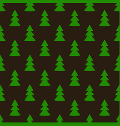 christmas fir tree green dark art seamless pattern vector image