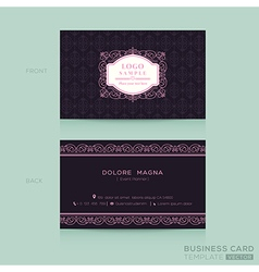 Classic vintage Business card namecard vector