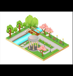 Colorful isometric three-dimensional vector