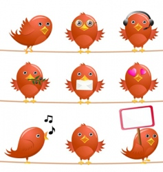 cute birds vector image