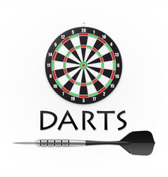 darts background vector image