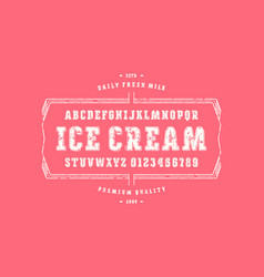 Decorative serif font with rounded corners vector