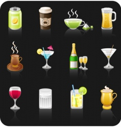 drinks black vector image
