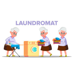 electrical washing laundromat appliance vector image